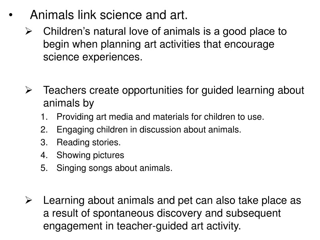 Animals link science and art.