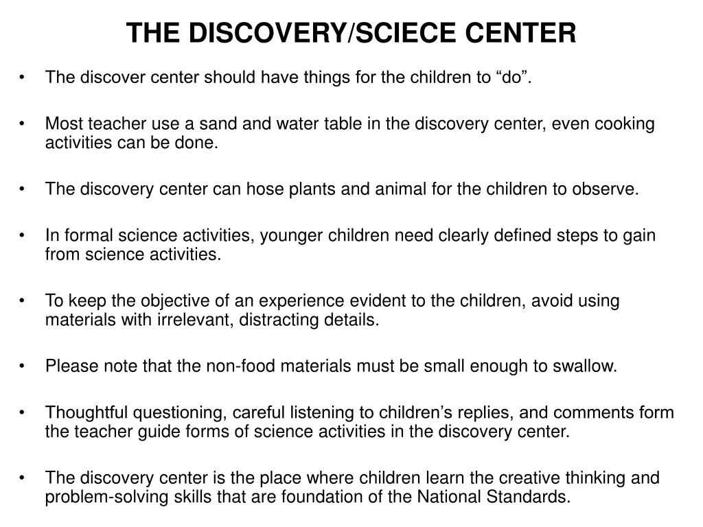 THE DISCOVERY/SCIECE CENTER