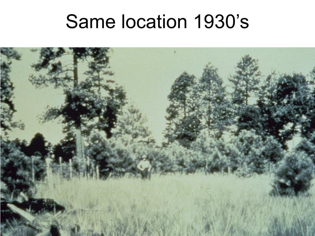 Same location 1930's