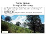 turkey springs ecological monitoring