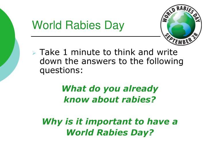 World rabies day
