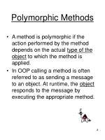 polymorphic methods