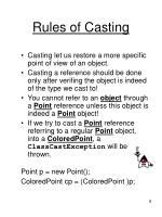rules of casting