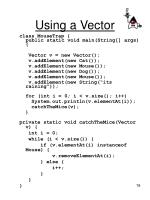 using a vector