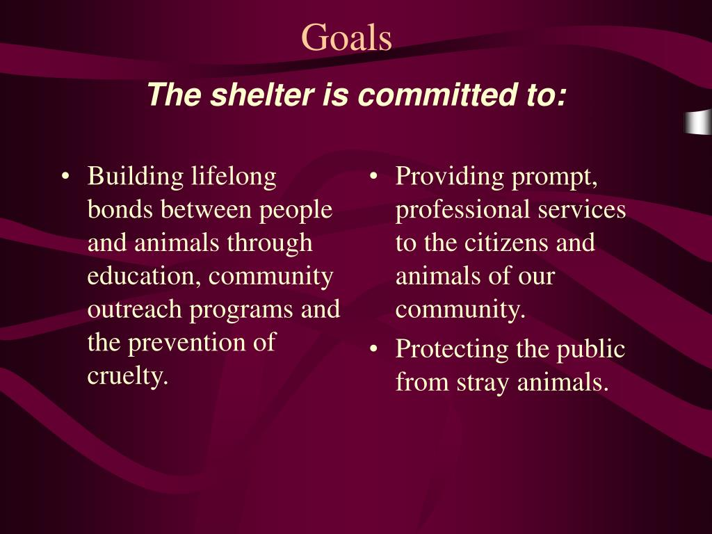 Building lifelong bonds between people and animals through education, community outreach programs and the prevention of cruelty.