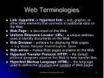 web terminologies