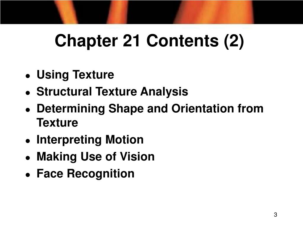 Chapter 21 Contents (2)