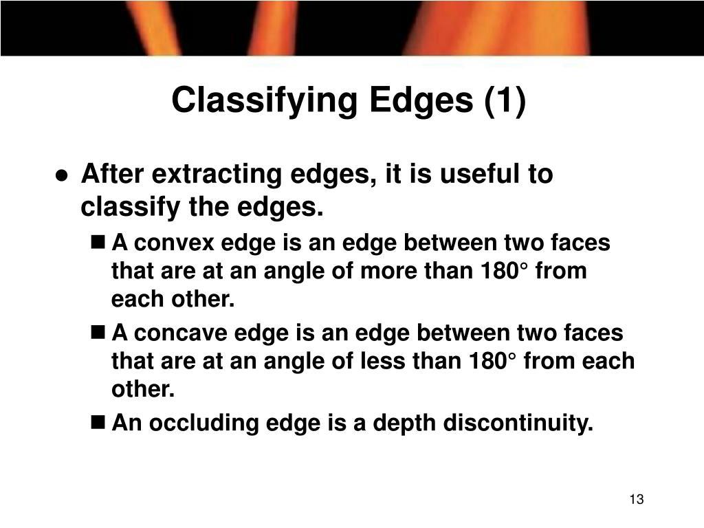 Classifying Edges (1)