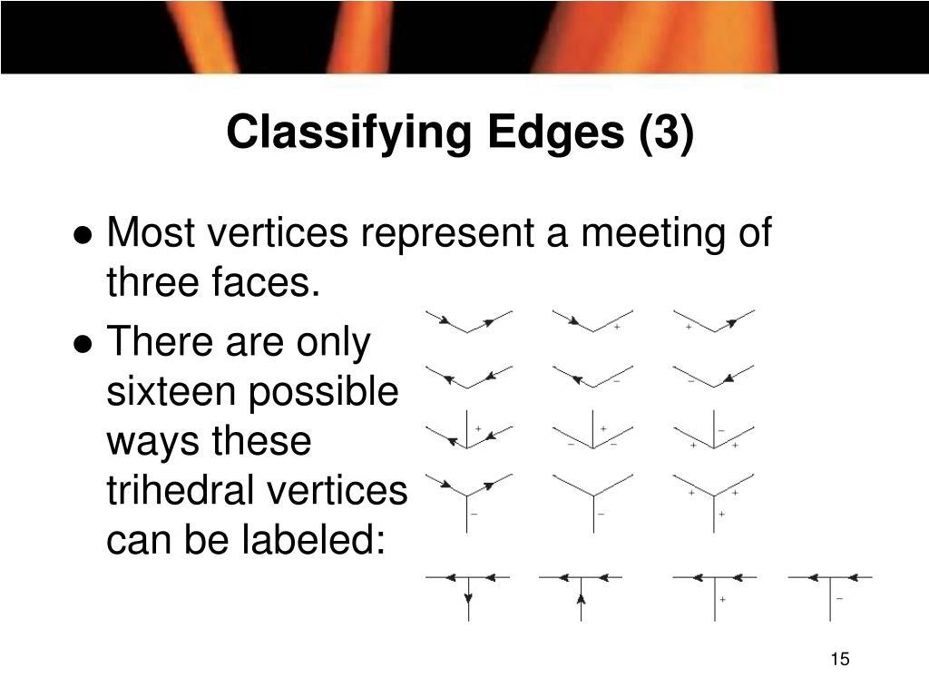 Classifying Edges (3)