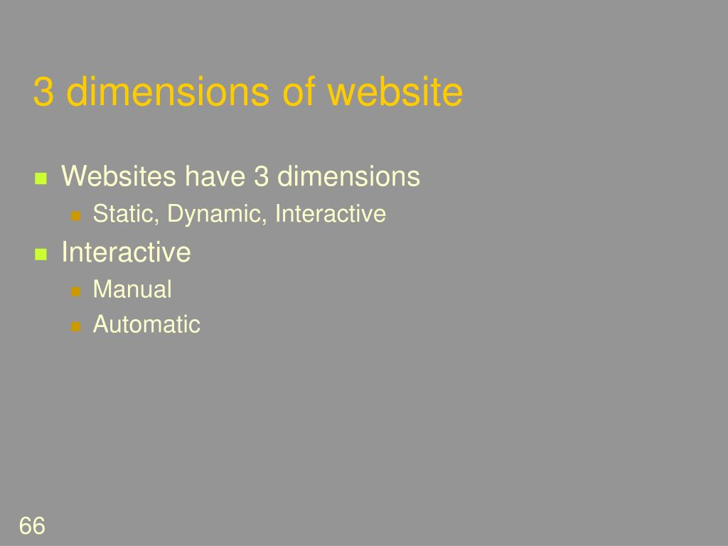 3 dimensions of website
