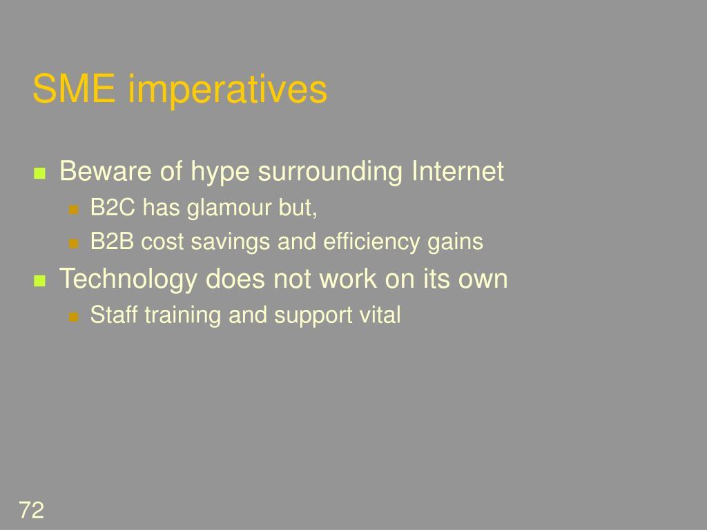 SME imperatives