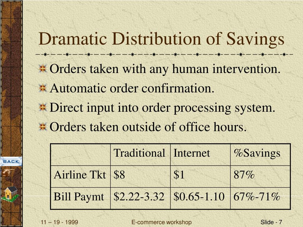 Dramatic Distribution of Savings