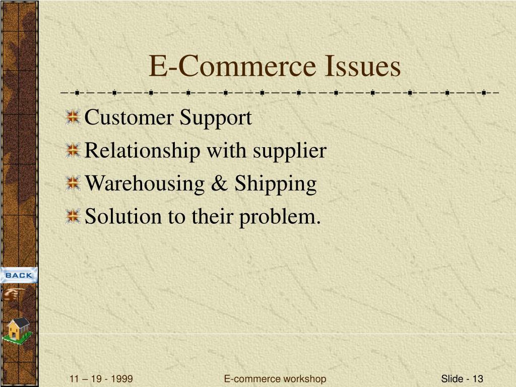 E-Commerce Issues