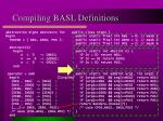 compiling basl definitions