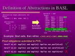 definition of abstractions in basl