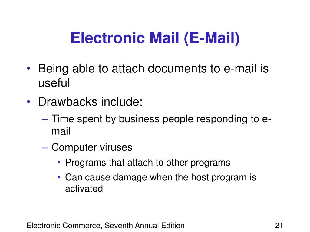 Electronic Mail (E-Mail)