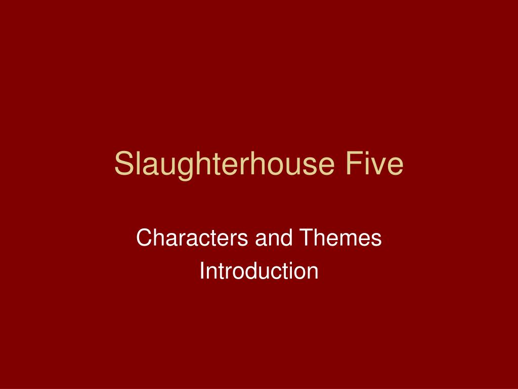 slaughterhouse five writing