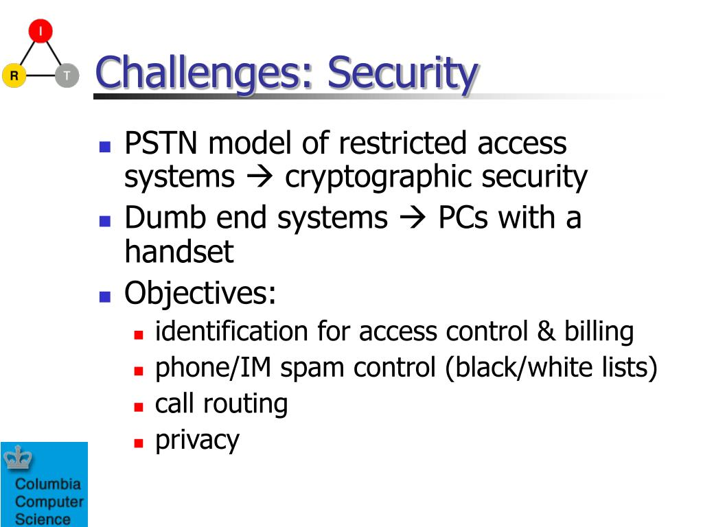 Challenges: Security