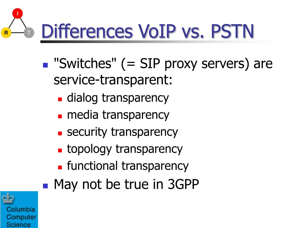 Differences VoIP vs. PSTN