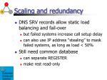scaling and redundancy37