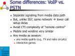 some differences voip vs pstn