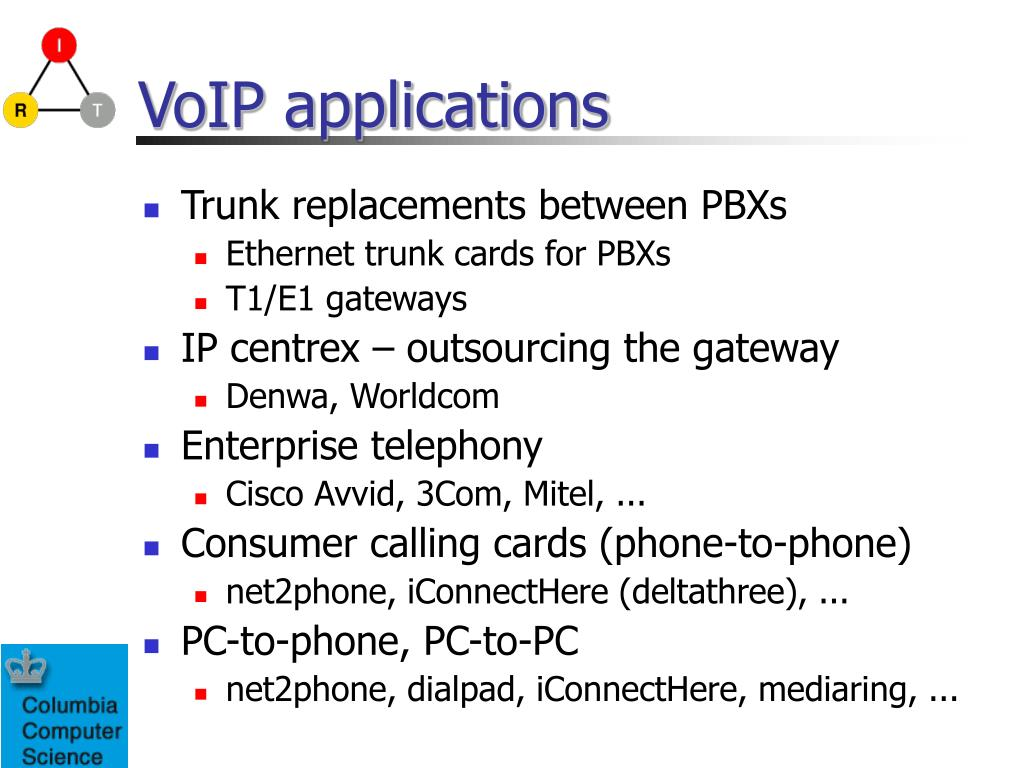VoIP applications