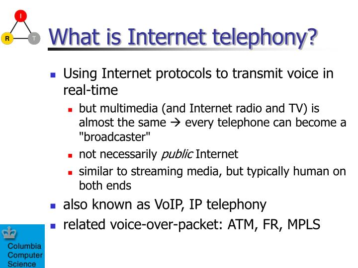 What is internet telephony