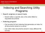 indexing and searching utility programs