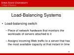 load balancing systems
