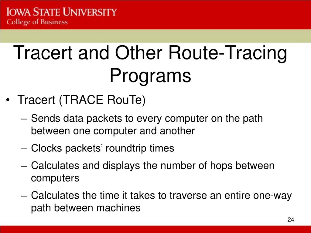 Tracert and Other Route-Tracing Programs