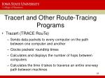 tracert and other route tracing programs
