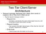 two tier client server architecture10