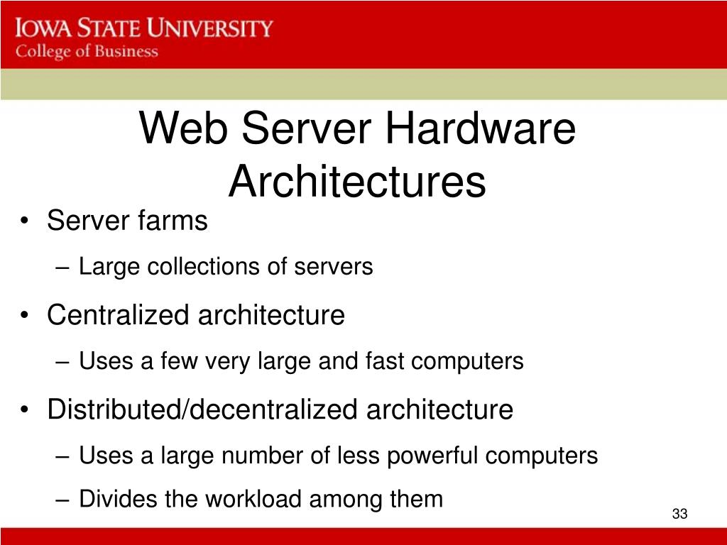 Web Server Hardware Architectures