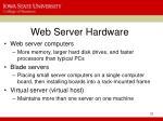 web server hardware