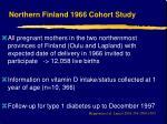 northern finland 1966 cohort study