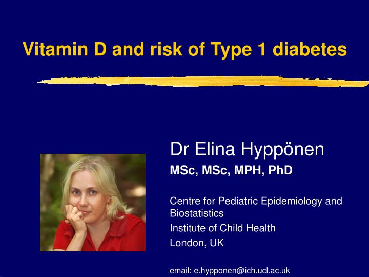 vitamin d and risk of type 1 diabetes n.