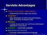 servlets advantages
