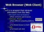 web browser web client