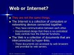 web or internet
