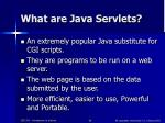 what are java servlets