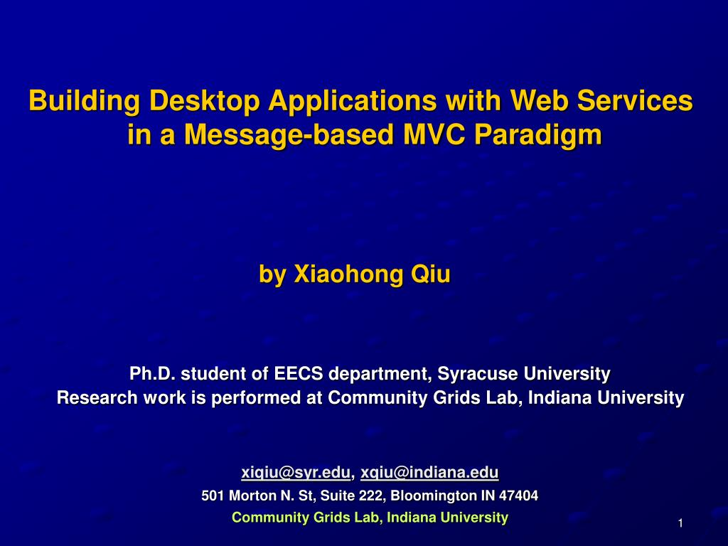 Building Desktop Applications with Web Services