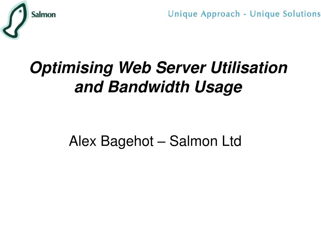 optimising web server utilisation and bandwidth usage l.