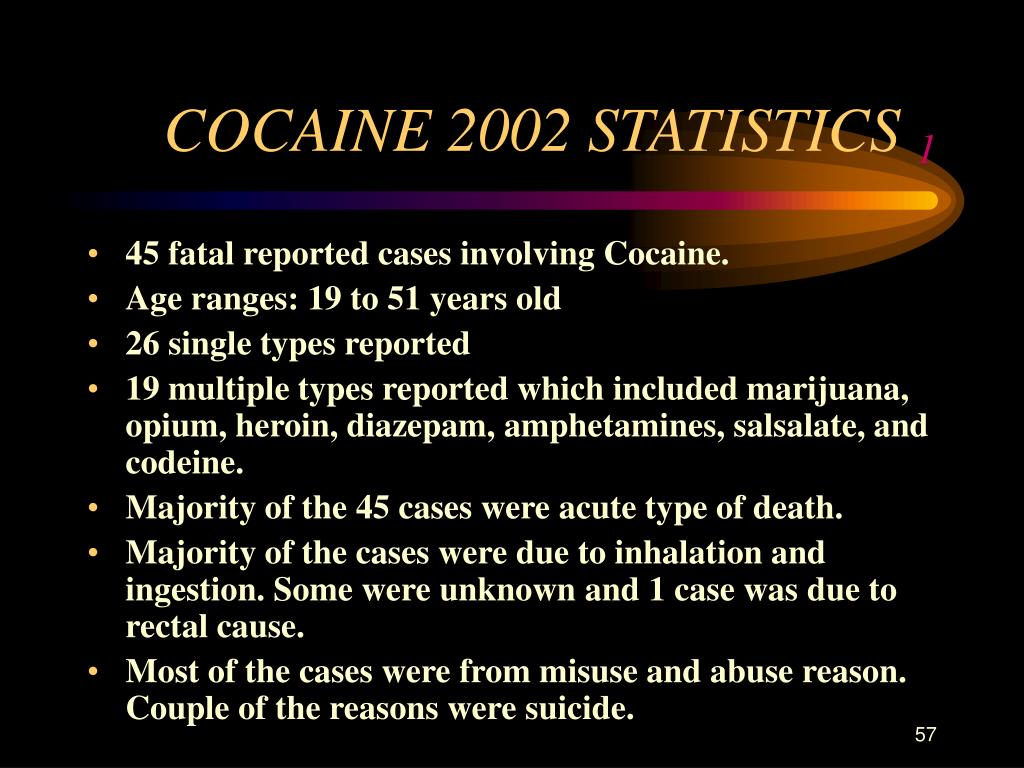 COCAINE 2002 STATISTICS