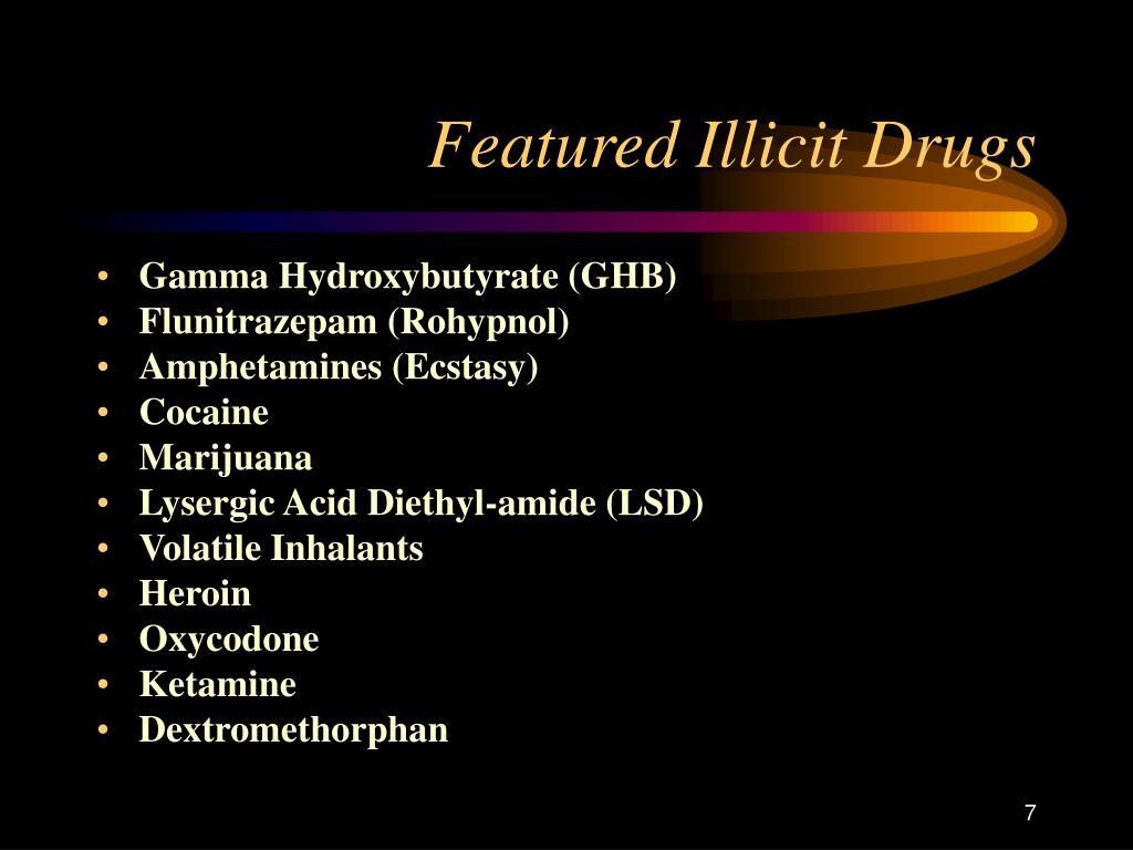 Featured Illicit Drugs