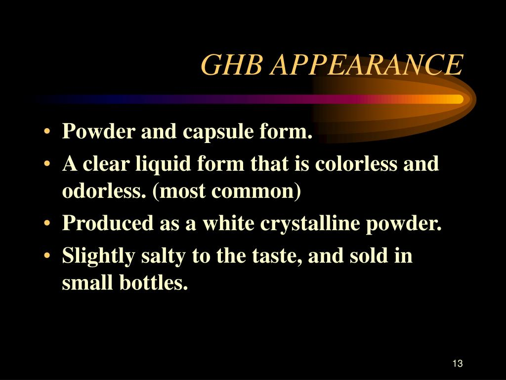 GHB APPEARANCE