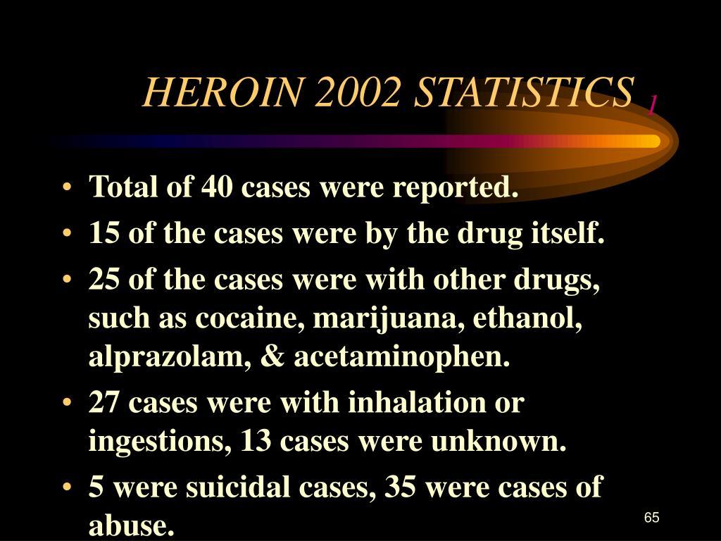 HEROIN 2002 STATISTICS
