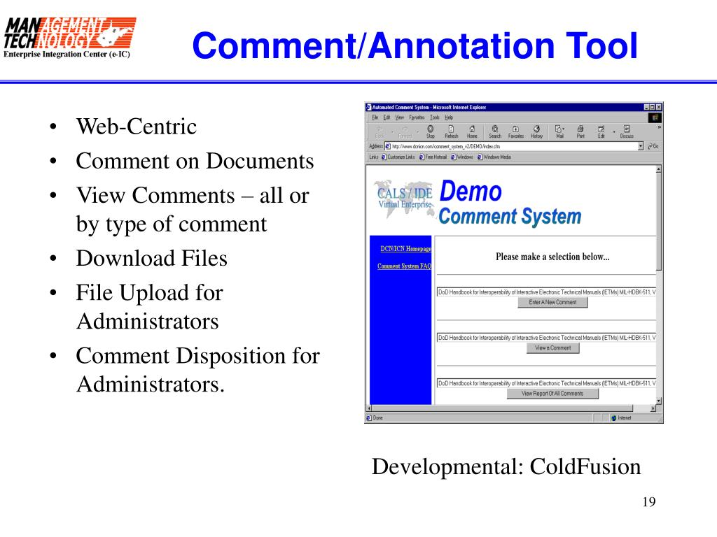 Comment/Annotation Tool