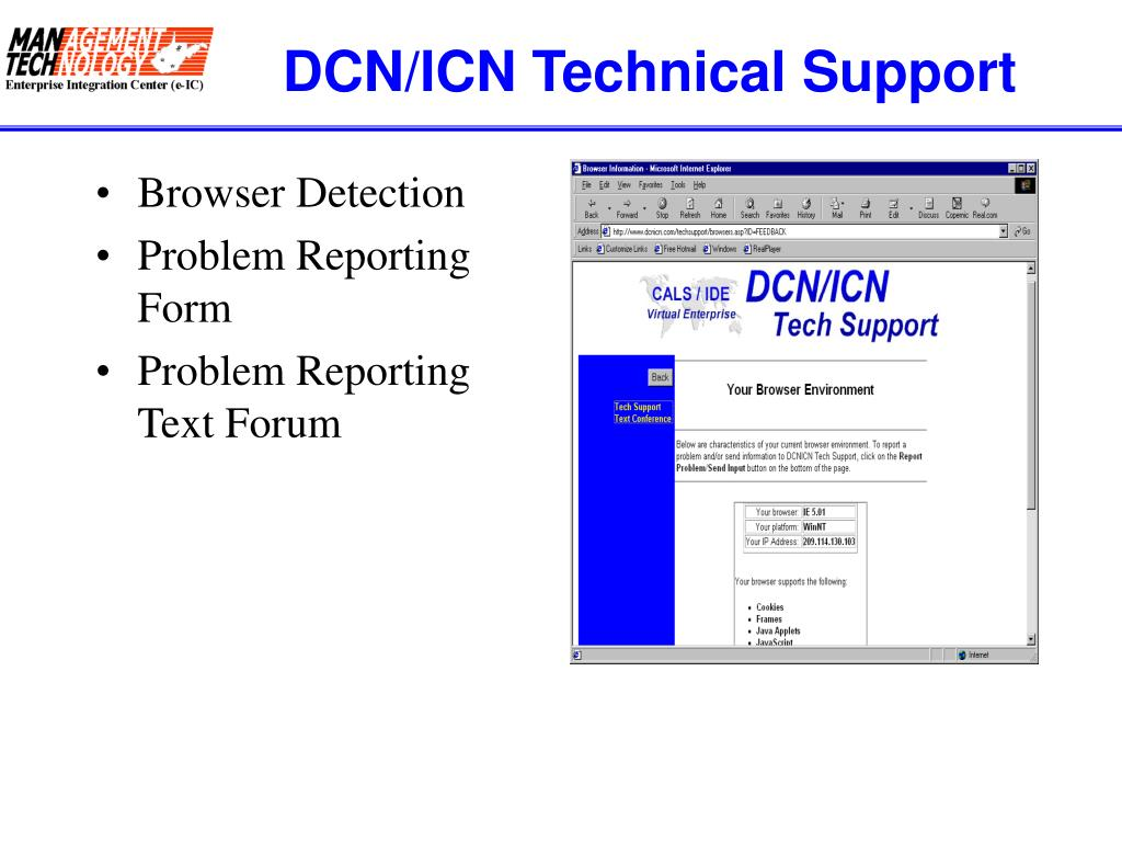 DCN/ICN Technical Support