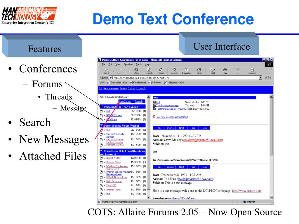 Demo Text Conference