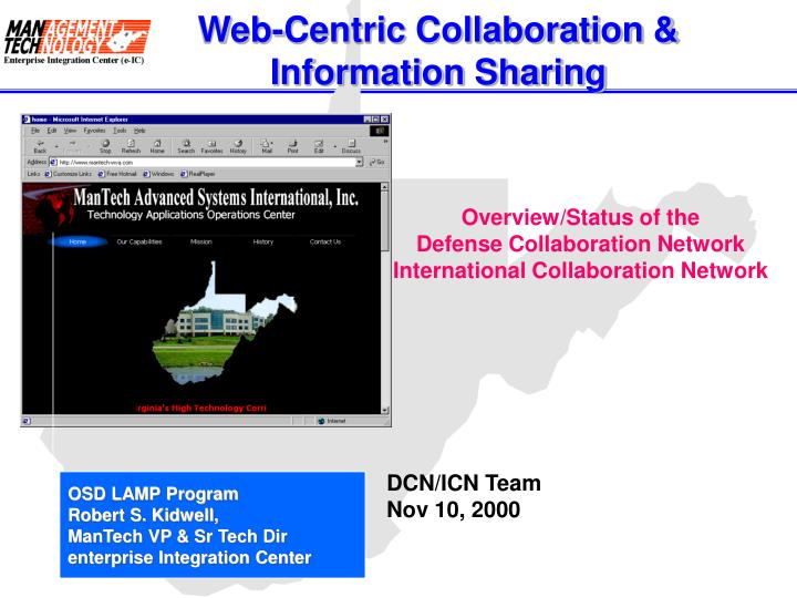 Web centric collaboration information sharing